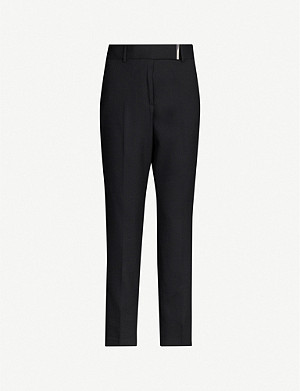 REISS Arlo tapered stretch-woven trousers