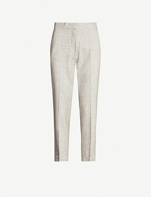 REISS Esme high-rise cropped woven trousers