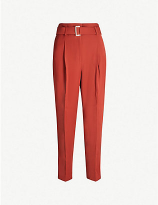 REISS: Cacey high-rise crepe trousers