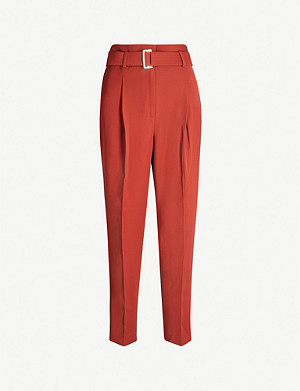 REISS Cacey high-rise crepe trousers