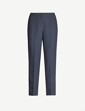 REISS Cleo cropped straight-leg crepe trousers