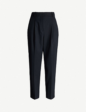 REISS Quinn tapered stretch-woven trousers