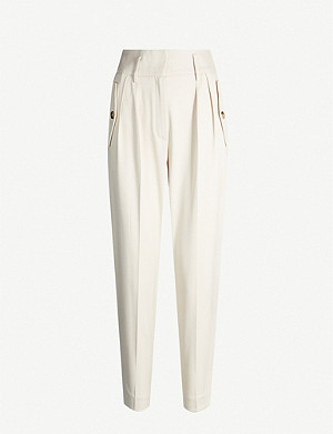 REISS Brooklyn cropped crepe trousers