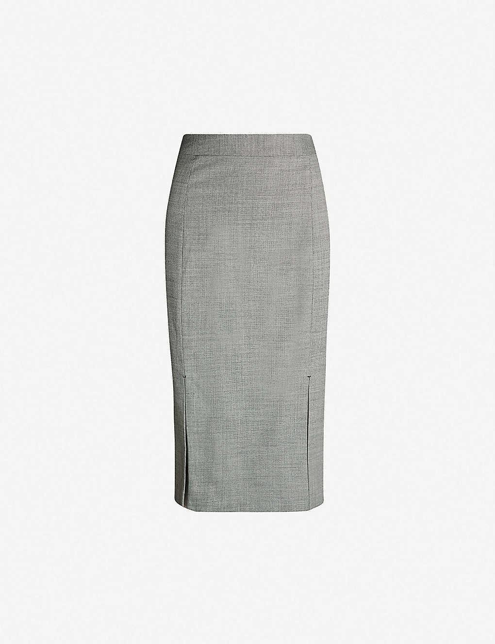 3f13544954 REISS - Alber split wool-blend pencil skirt | Selfridges.com
