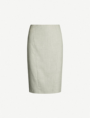 2254f9170b REISS - Fenton wool-blend pencil skirt | Selfridges.com