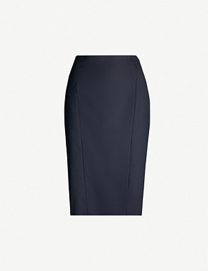 REISS Hartley high-waist wool-blend pencil skirt