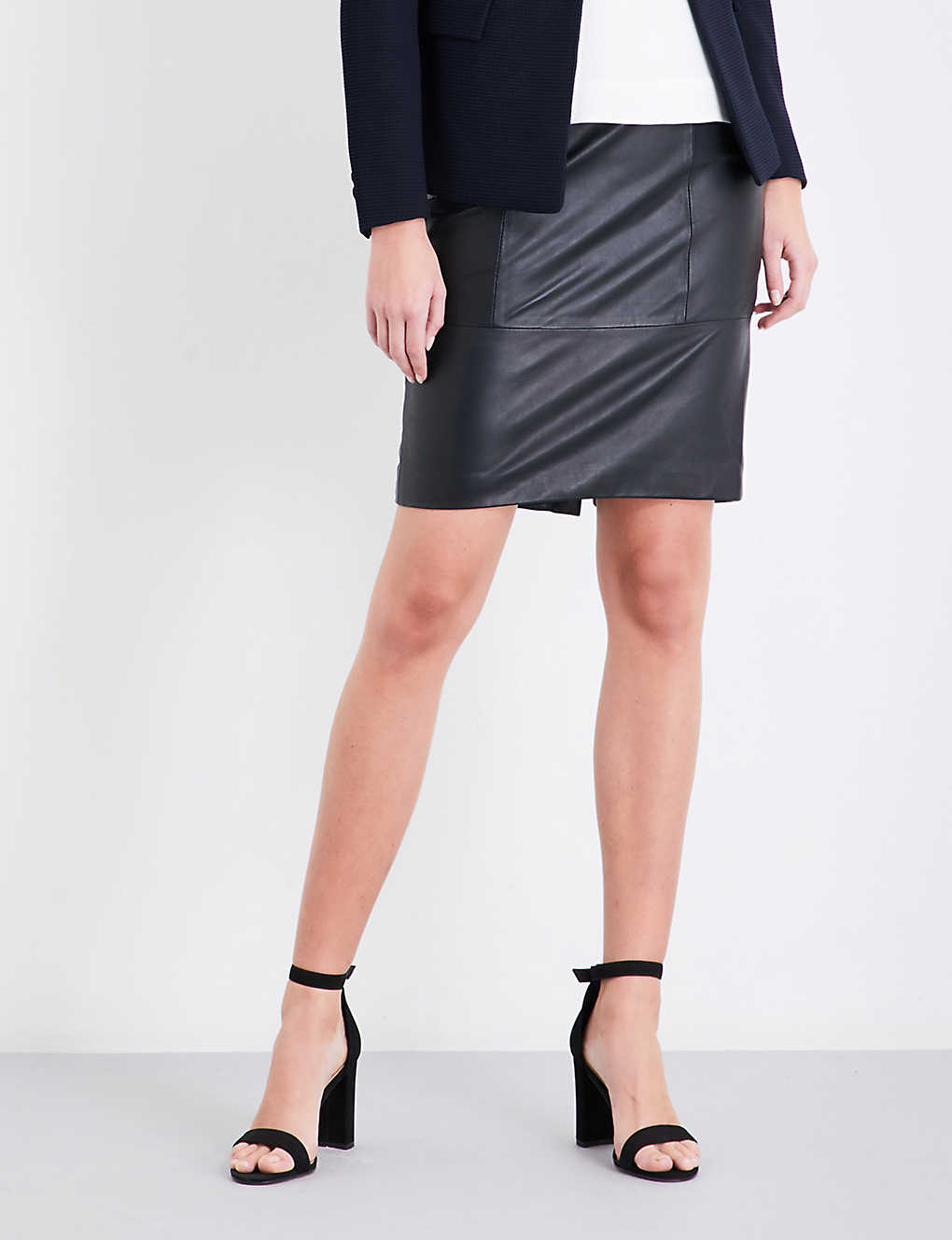a52d2374a5 REISS - Kristen leather pencil skirt | Selfridges.com
