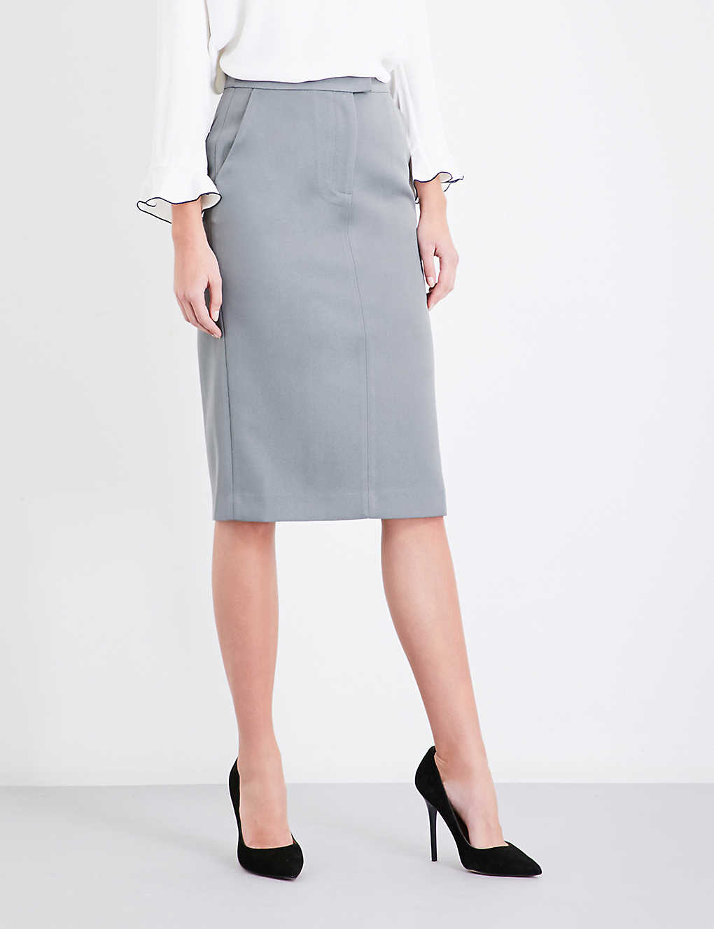 dba66339b4 REISS - Era satin pencil skirt | Selfridges.com