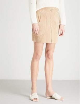 5ccc58f5e Shoptagr | Keaton Suede Skirt by Reiss
