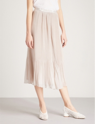b32e8e963 REISS - Cherry pleated crepe midi skirt | Selfridges.com