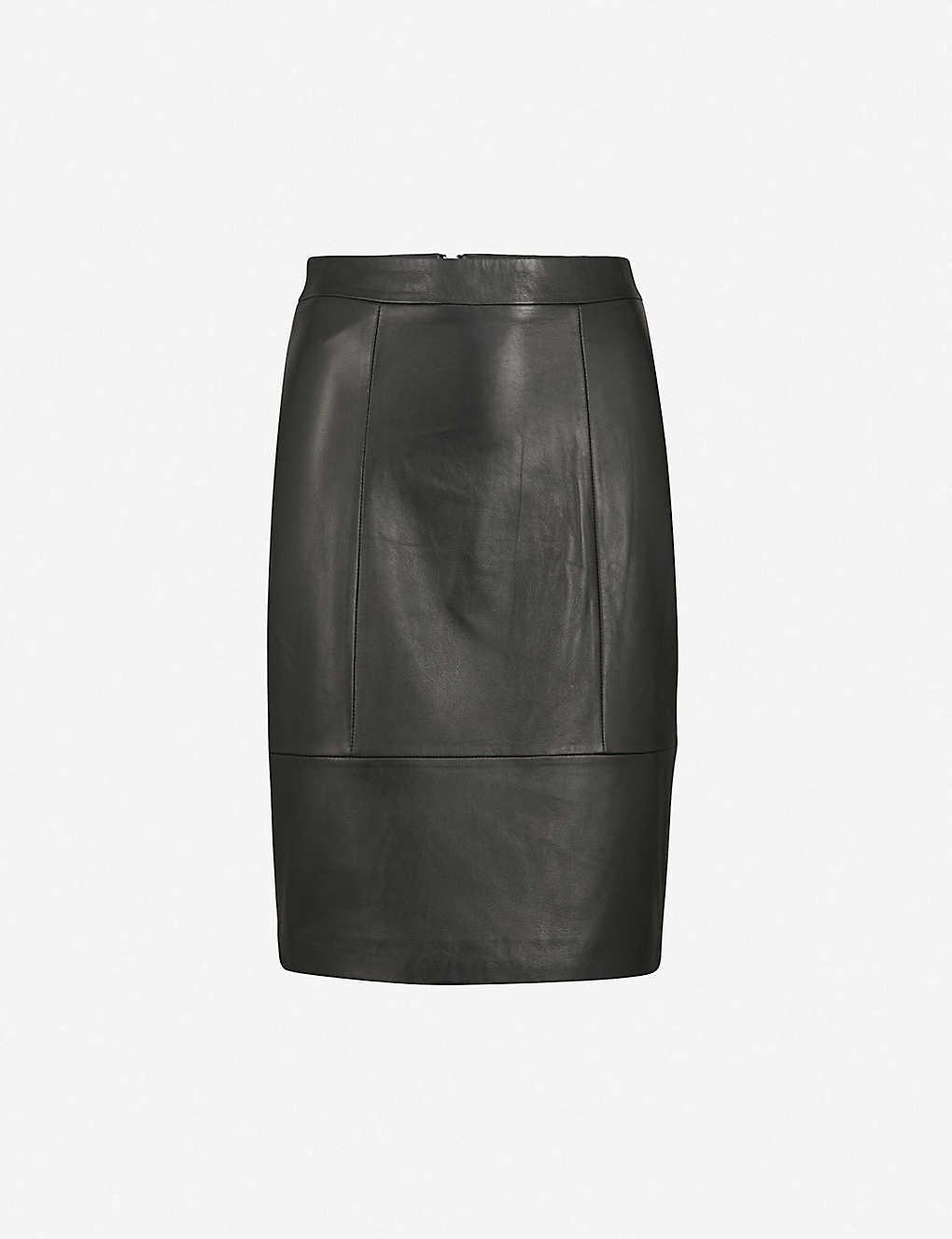 a52d2374a5 REISS - Kristen leather pencil skirt | Selfridges.com