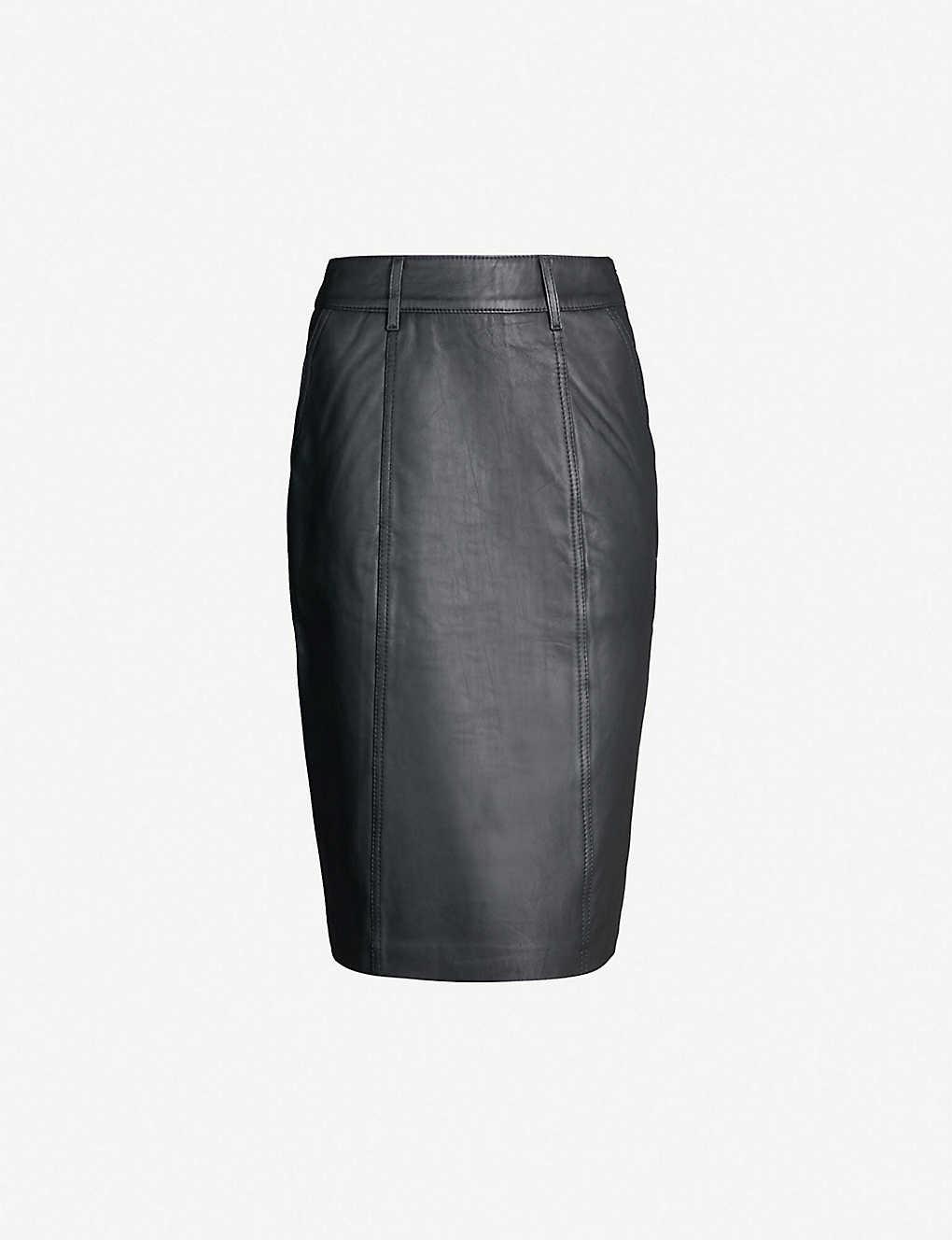 8a8ef905b8baba REISS - Kara leather pencil skirt   Selfridges.com