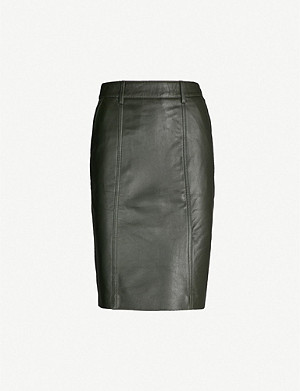 be18ffa2ad REISS - Kara leather pencil skirt | Selfridges.com