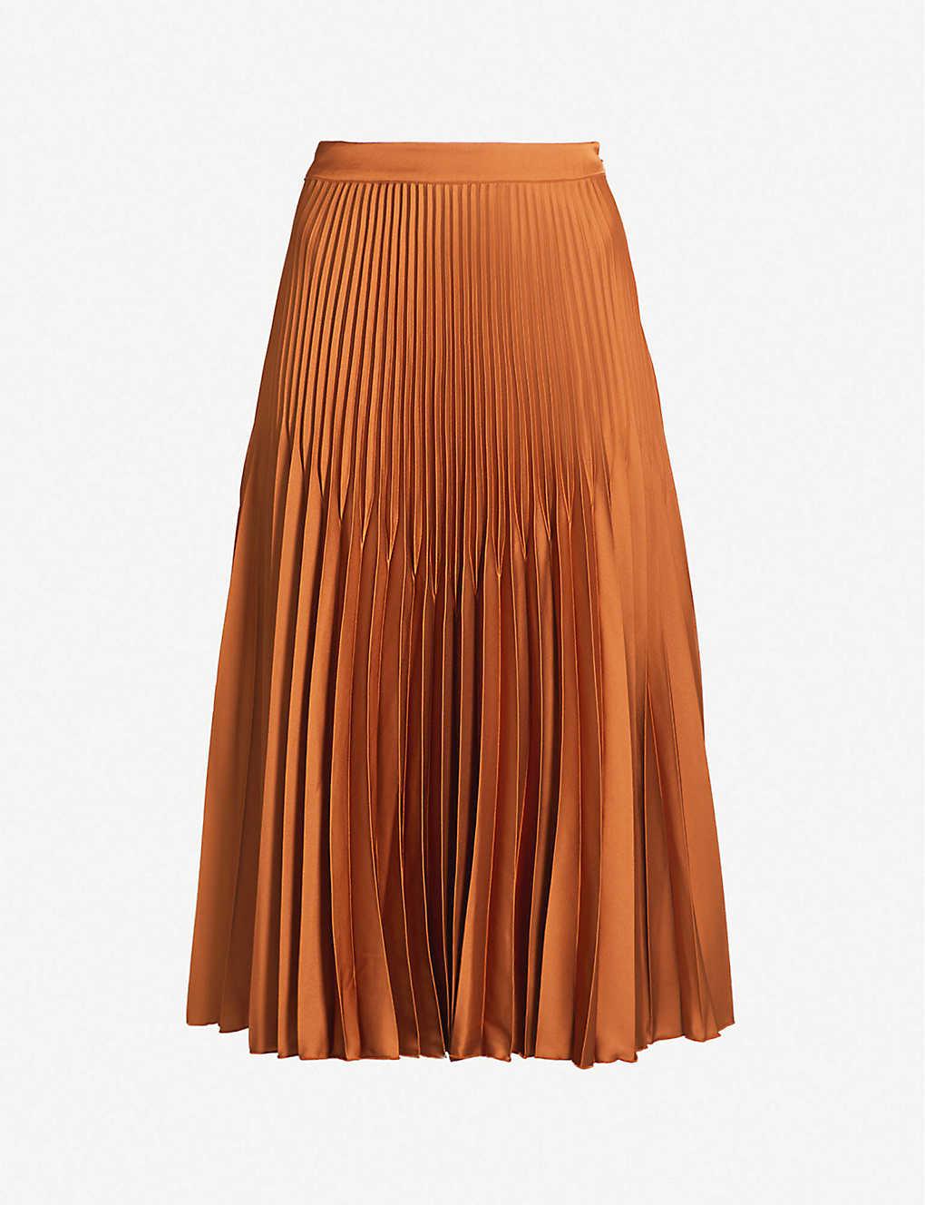 5ab8ef4fb REISS - Isidora knife-pleat midi skirt | Selfridges.com