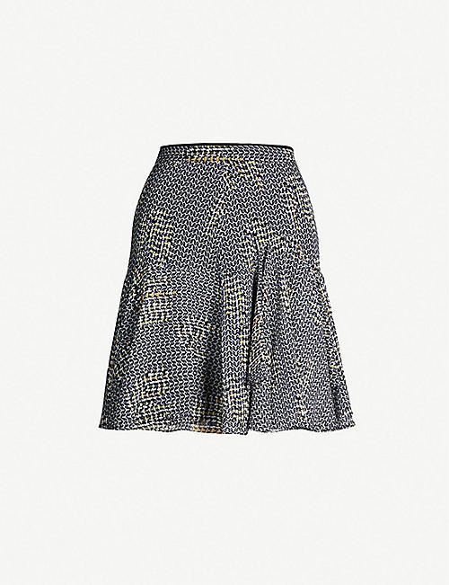 6cd87ad83 REISS Muriel mesh-print crepe skirt