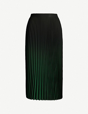 REISS Marlie ombré pleated midi skirt