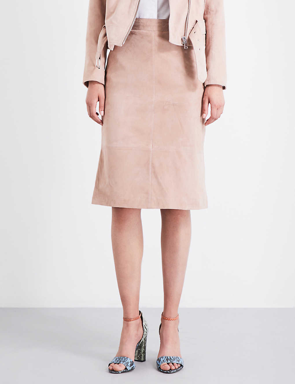 9cab4c5600 REISS - Tess high-rise suede skirt | Selfridges.com