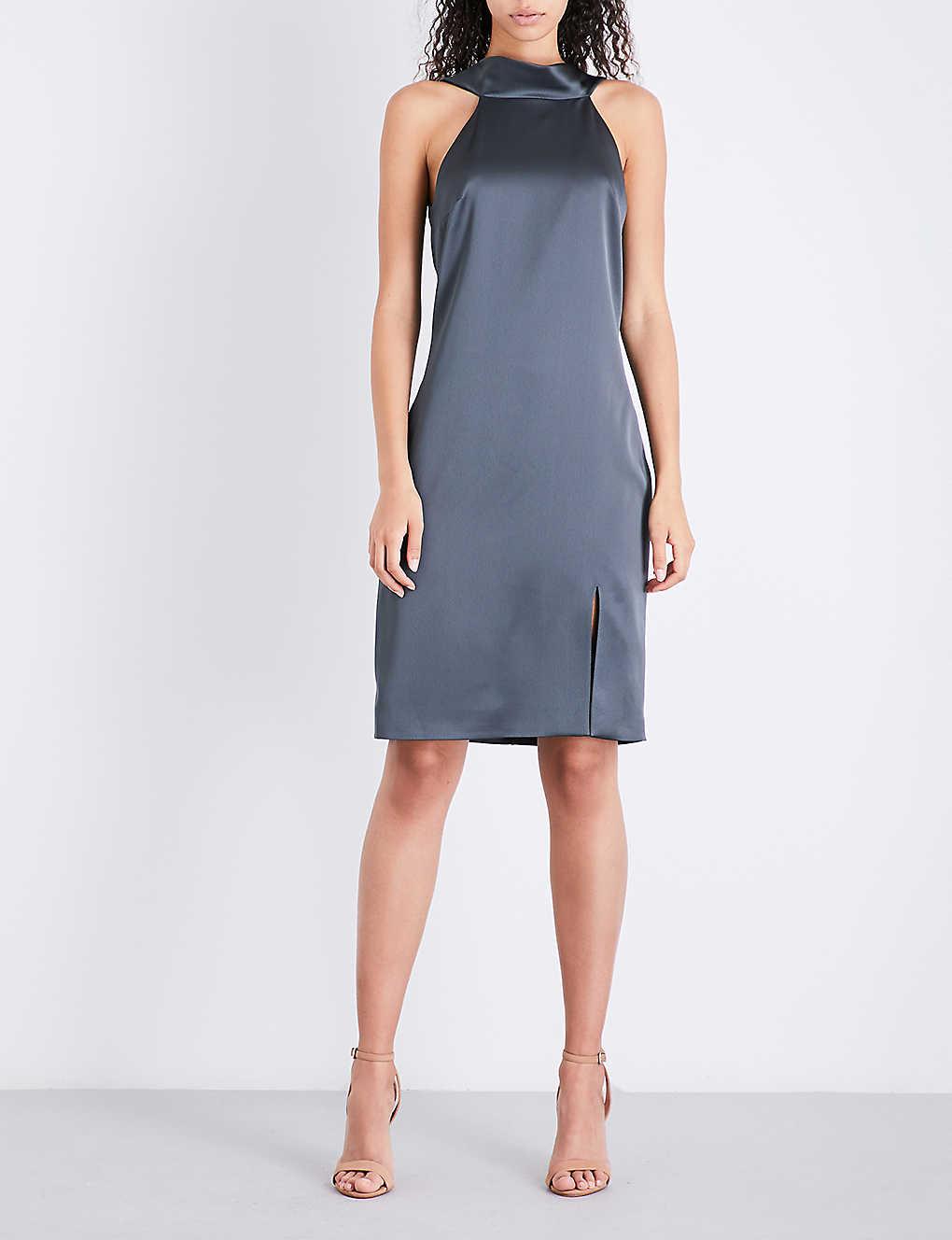 75791a6d49e REISS - Mina cowl-back satin dress | Selfridges.com