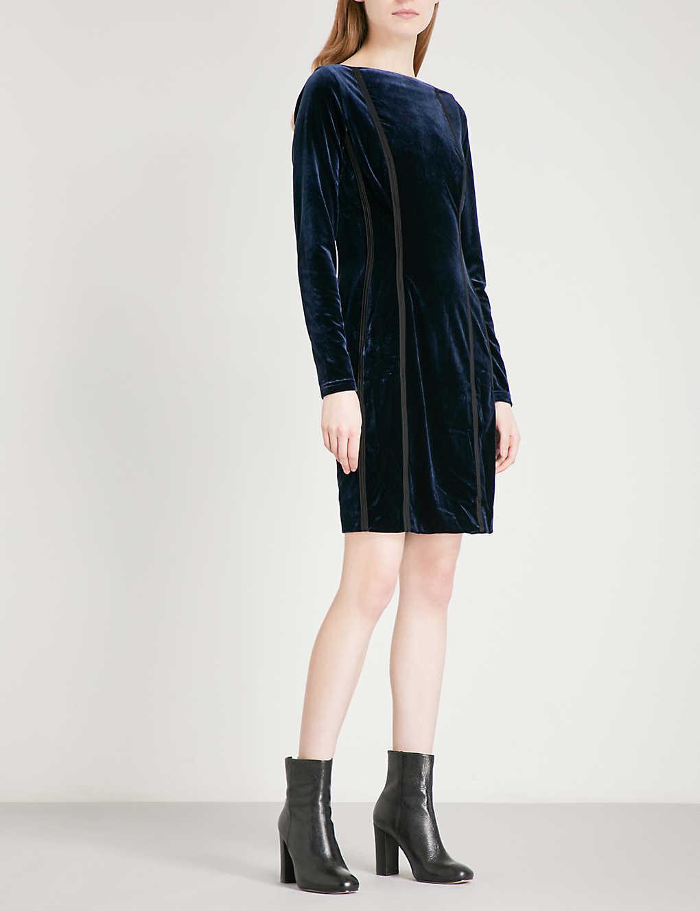 73a0194484b REISS - Xina open-back velvet dress