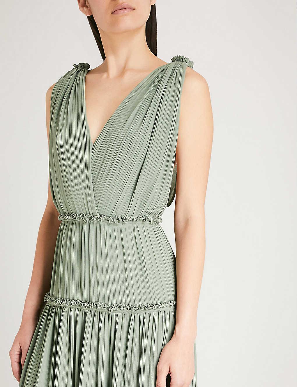 99b738bff54 REISS - Gigi pleated chiffon maxi dress