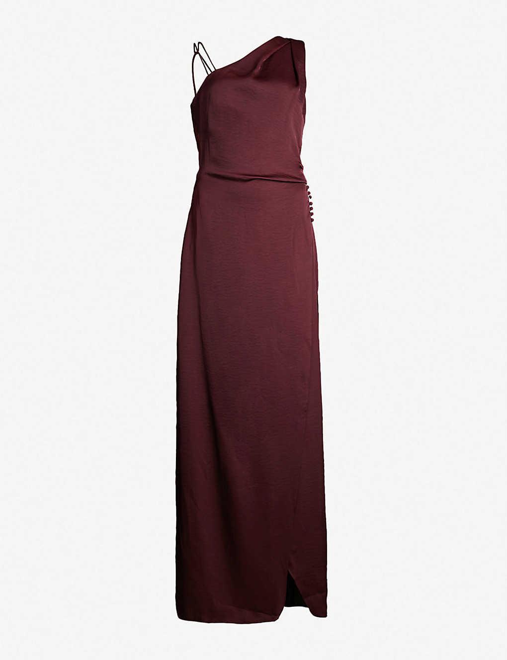 548a34f780e REISS - Aerin one-shoulder satin maxi dress | Selfridges.com