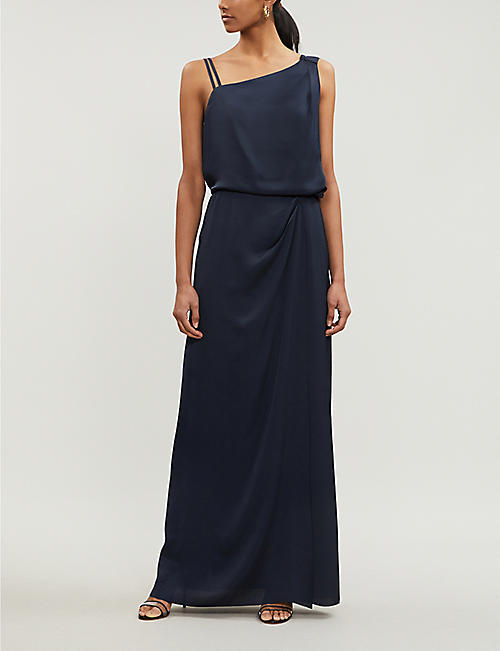 cc71d6d65b6 REISS Ostia one-shoulder satin maxi dress