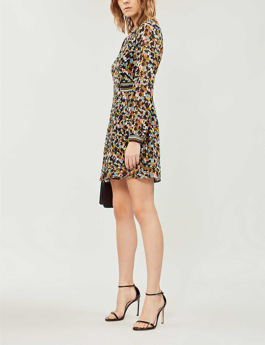 4f07c68021de2 REISS - Martina ditsy-print crepe dress | Selfridges.com