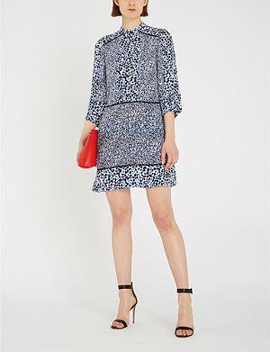 54be93b154 REISS - Myra wrap-front crepe dress