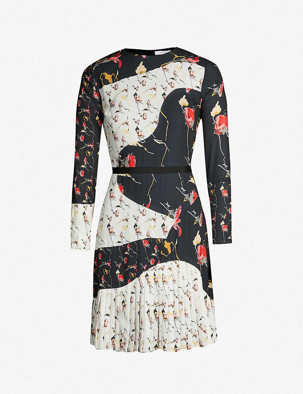 968dbc887b REISS - Mara mixed print long-sleeved dress | Selfridges.com