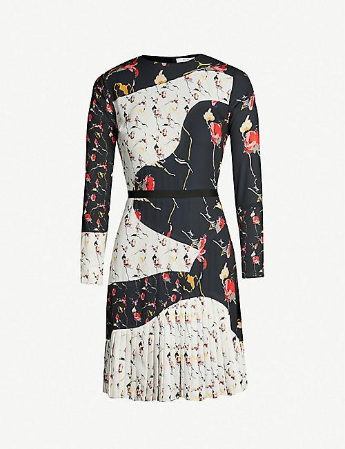 5bc4f69467dfd REISS Mara mixed print long-sleeved dress