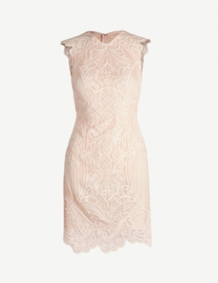 REISS Roxanda scalloped lace dress