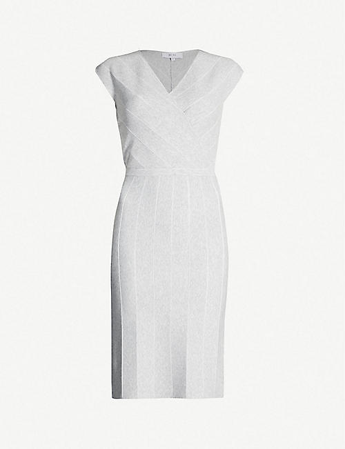 d6d943630ee REISS Olivia wrap-front fitted dress