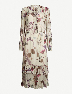 REISS Aster floral-print crepe maxi dress