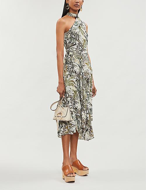 6aebdb0a658 REISS Adelia print-jungle print woven dress
