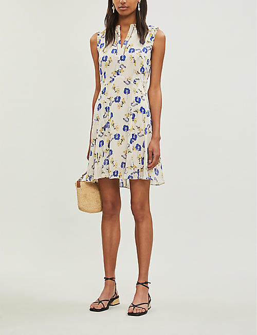 a9832f0ccff REISS Mika floral-print flared woven dress. Quick Shop