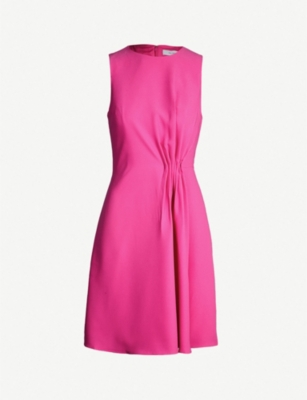 REISS Nadia gathered sleeveless crepe dress