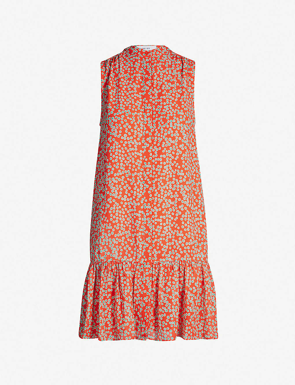 c1ecf5a92c REISS - Nia spot-print shift chiffon dress | Selfridges.com