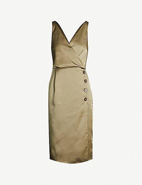 c8697b0572fea REISS Peppa V-neck satin midi dress