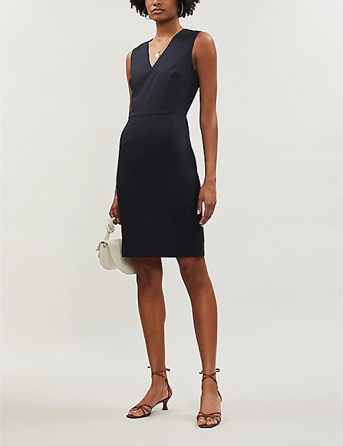 9489ea36438 REISS Hartley V-neck wool-blend hopsack mini dress