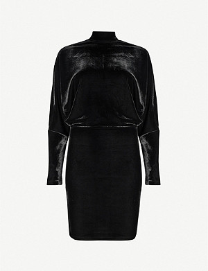 REISS Esme open-back velvet mini dress