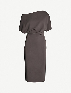 REISS Madison off-the-shoulder stretch-crepe midi dress
