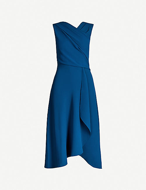 461c90afebd3 REISS Marling wrap-front crepe midi dress