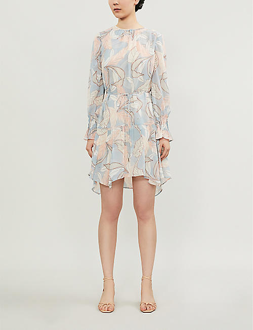 REISS Dara asymmetric-hem chiffon dress