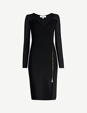 REISS Valencia zipped bodycon dress