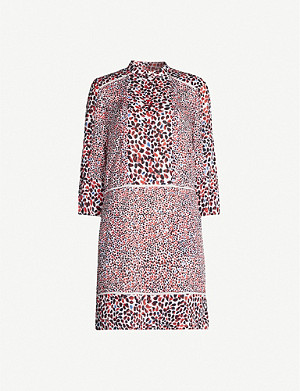 REISS Anush graphic-pattern crepe mini dress