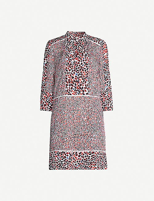 d41074dccb7eab REISS Anush graphic-pattern crepe mini dress