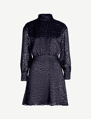 REISS Matilda animal-print mini dress