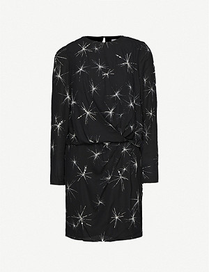 REISS Gabby star-print crepe mini dress