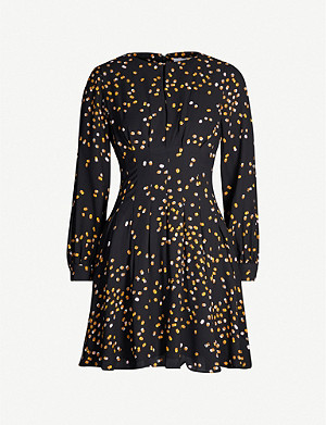 REISS Arabella graphic-print crepe mini dress