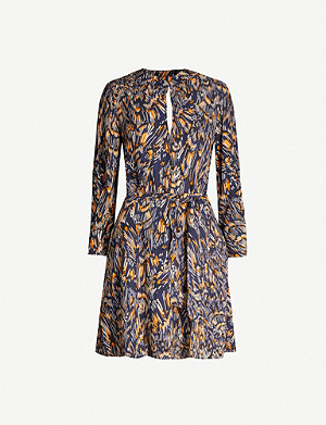 REISS Lilia graphic-print crepe mini dress
